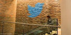 Twitter logo inside their NYC HQ New York Office, Twitter S, Kitchen Signs, People Around The World, Basement, Rose, Chelsea Manhattan, Platform, Nyc