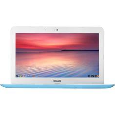 "Asus - C300SA 13.3"" Chromebook - Intel Celeron - 4GB Memory - 16GB eMMC Flash Memory - Blue, C300SA-DS02-LB"