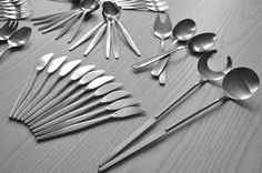 51 Sweden GENSE Focus Flatware Cutlery Mid Century Modern MCM Retro Forks, Spoons Set on Etsy, $480.00