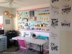 Craft Room Office Reveal | ByDawnNicole.com