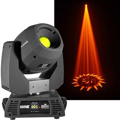CHAUVET Professional Rogue R1 Spot –140W LED,16° beam angle,  2 gobo wheels (one static, one rotating), an 8-position color wheel, a 3-facet prism, motorized iris and focus. http://livedesignonline.com/rogue-moving-heads-among-highlights-chauvet-professional-infocomm