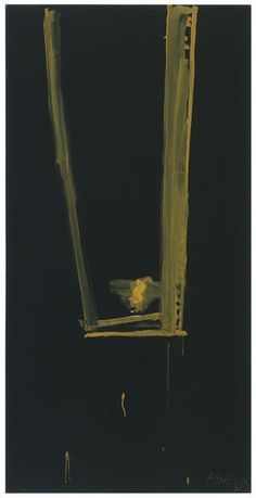 ROBERT MOTHERWELL Black Open, 1973 Acrylic on canvas 72 × 36 in 182.9 × 91.4 cm Bernard Jacobson Gallery #art #contemporaryart #painting