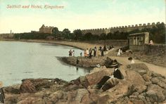 Salthill and Kingstown , A snapshot of the past. Seapoint Dunlaoghaire Co Dublin Ireland, Dublin Ireland, Old Photos, The Past, Places, Water, Travel, Outdoor, Image, Old Pictures