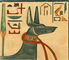 Jones, Ernest Harold (1877-1911) - The Tomb of Siptah 1908, Anubis. #egypt