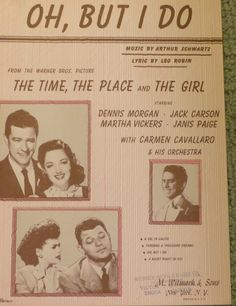 This is a beautiful piece of vintage sheet music that is dated It measures 12 x 9 inches and was from The Time, The Place and The Girl. Gift For Music Lover, Music Gifts, Music Lovers, Vintage Sheet Music, Vintage Sheets, Vintage Paper, Janis Paige, Old Yearbooks, Music Radio