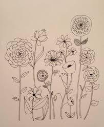 Basic line drawing online course by lisa congdon - creativebug line art flowers, flower line Embroidery Flowers Pattern, Flower Patterns, Embroidery Designs, Embroidery Letters, Doodle Patterns, Flower Pattern Drawing, Doodle Borders, Geometric Embroidery, Pattern Flower