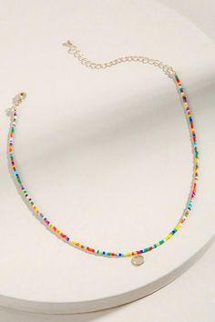 Cute Jewelry, Diy Jewelry, Beaded Jewelry, Jewelery, Handmade Jewelry, Jewelry Making, Beaded Bracelets, Seed Bead Necklace, Diy Necklace