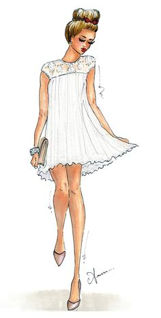 @Camilla Sentuti (Glamgerous) #illustrator #fashionblogger #fashion #glamgerous #sketch
