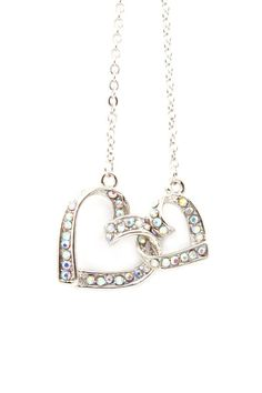 Locked Hearts Pendant Necklace.