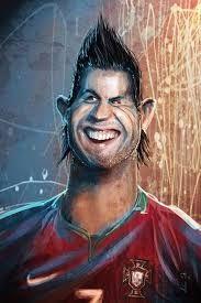 Resultado de imagem para caricaturas de jogadores de futebol
