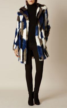 Buy Karen Millen Patchwork Faux Fur Coat, Blue/Multi from our Women's Coats & Jackets range at John Lewis & Partners. Coats For Women, Jackets For Women, Classic Chic, Karen Millen, Winter Wardrobe, Faux Fur, Fur Coat, Autumn Fashion, My Style