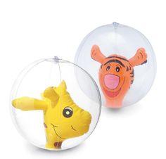 Regalos para niños. Balón playa, interior animalitos. Balón hinchable, PVC trnasparente. Muñeco hinchable en el interior. Medida deshinchado: 33 cm diámetro.