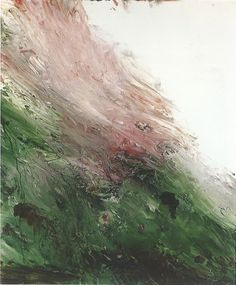"""Cy Twombly aka Edwin Parker """"Cy"""" Twombly, Jr. (American, 1928-2011, b. Lexington, VA, USA) - Untitled (A Painting In Two Parts) (Part 1), 1986  Paintings: Oil"""