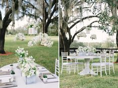 Rustic and Modern White Wedding Inspiration -- hanging table numbers!?!?!
