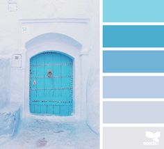 A Door Hues via @designseeds #designseeds #seedscolor #color #colorpalette #color #palette #colour #colourpalette #turquoise #teal #aqua #blue #purple #lavender #violet #door #wander #wanderlust