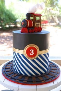 The 20 Best Ideas for Train Birthday Cake Train Birthday Party Cake, 3rd Birthday Cakes, Train Party, 4th Birthday Parties, Boy Birthday, Birthday Ideas, Cakes For Boys, Cake Kids, Cake Creations