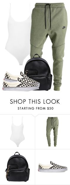 """get paid, yn"" by aiyanaa ❤ liked on Polyvore featuring ATM by Anthony Thomas Melillo, NIKE, Dsquared2 and Vans"