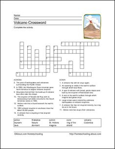 Crossword generator so that the student can review their vocabulary are there free printables that can teach students about volcanoes fandeluxe Gallery