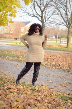 My Curves & Curls™ | A Canadian Plus Size Fashion blog: Polo-Neck #Assacisse #mycurvesandcurls