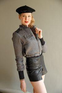 Textured jacket.