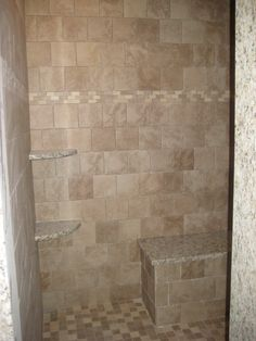 showers with half walls the above picture shows a half wall with glass above but without the. Black Bedroom Furniture Sets. Home Design Ideas