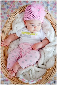 Some Bunny Loves Me - Baby Girl - Basket - Easter - Photo Shoot - Sassy Mouth Photography