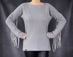 Bluza dresowa z frędzlami  w Petis na DaWanda.com
