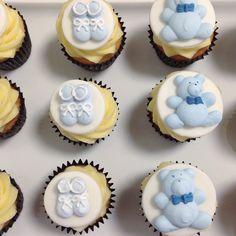 Mini baby shower cupcakes  #edwardjamesfinefoods