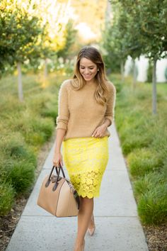 I could totally wear a nude sweater over my neon jcrew dress!
