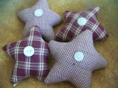Set Of Four Primitive Homespun Burgundy by MondaysChildPrims, $8.00