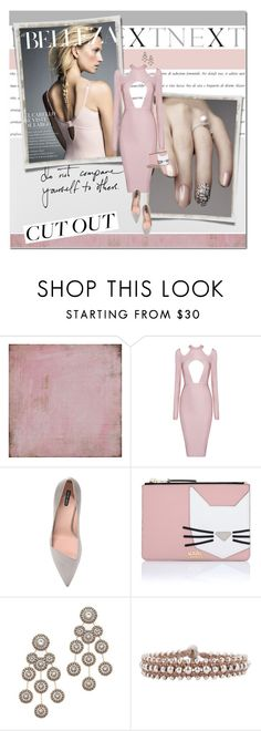 """""""cut out dress"""" by lifestyle-ala-grace ❤ liked on Polyvore featuring Ombra, BasicGrey, Giorgio Armani, Karl Lagerfeld, Miguel Ases and Cocobelle"""