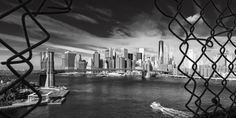 Kurt Krause: Brooklyn Bridge New York - Glasbild Manhattan, Brooklyn Bridge New York, Vinyl, New York City, New York Skyline, Poster, Wall Art, Painting, Travel