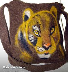 Filztasche Tiger