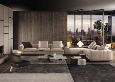 Minotti Freeman modern sectional sofa - Home Decorating Trends - Homedit Living Room Modern, Living Room Interior, Home Living Room, Living Room Designs, Living Room Decor, Living Spaces, Modern Interior, Interior Architecture, Interior Design