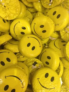 smiley foiled chocolate discs