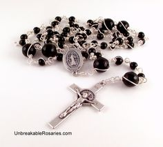 Etsy Rosary Guild Team: St Benedict Rosary Beads For Men by Unbreakable Ro...