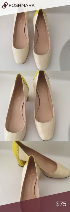 """Beautiful Kate Spade Color Block Pumps Beautiful Kate Spade Color Block Pumps in excellent preowned condition. Please visit my closet and view my  listings. There are more styles and sizes. Please contact me if you have any additional questions. Thanks               Size:9.5 B     Heel:2.5"""" Block Heel kate spade Shoes Heels"""