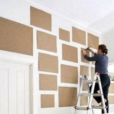 How to plan a wall collage. Need to remember to do this first. Last time I did a wall collage it was a disaster! :)