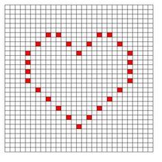 Ravelry: Thin Heart Bobble Chart pattern by Kari Philpott Bobble Stitch Crochet Blanket, Crochet Squares Afghan, Crochet Square Patterns, Crochet Diagram, Crochet Stitches Patterns, Crochet Chart, Crochet Motif, Baby Blanket Crochet, Free Crochet