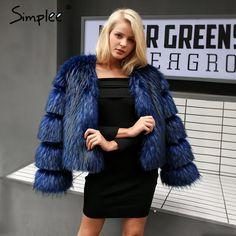Simplee Fluffy warm faux fur jacket – The Closet Freakz Boutique