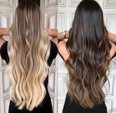 Pin by Sitha Miller on Hair in 2019 Blonde Hair Looks, Brown Blonde Hair, Brunette Hair, Beautiful Long Hair, Gorgeous Hair, Cabelo Ombre Hair, Brown Hair Colors, Hair Color Dark, Balayage Hair Blonde
