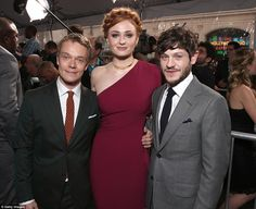 Head and shoulders above: Glamorous Sophie was head and shoulders above Alfie Allen and Iw...