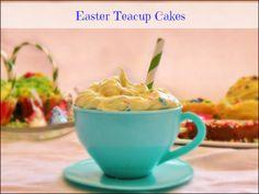 Easter Teacup Cakes! @HERSHEY'S Chocolate #BunnyHop #sponsored
