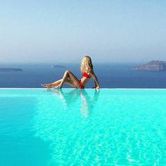 Good morning Santorini your view is stunning #santorini2015 #santorini #greece #infinitypool #imerovigli by extraveganta