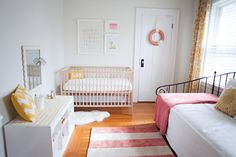 "LOVE the colors, patterns and serenity of this room... will keep in mind for E's ""big girl room"" in a few years. :)"