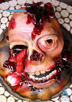 Zombie Head Cake - Cake by Michael Almeida