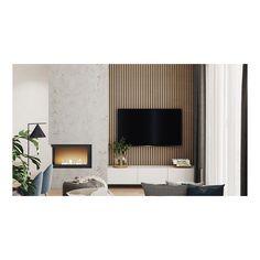 Home design: Garden Design Ideas at Home That Make You Cozy and Fresh Modern Fireplace, Fireplace Design, Fireplace Wall, Foyer Design, House Design, Home Decor Shelves, Living Room Arrangements, Living Room Tv, Apartment Interior Design