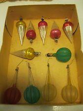 Uitstekende Doos van de Duitse Christmas Ornaments - Random Lot - 1930's