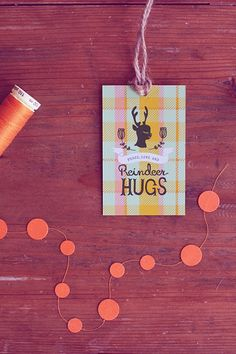 FREEBIE: 'Peace, Love and Reindeer Hugs' Gift Tags » Eat Drink Chic