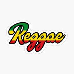 'Reggae, colors' Glossy Sticker by Alma-Studio Bob Marley Art, Bob Marley T Shirts, Car Bumper Stickers, Laptop Stickers, Jamaica, Flag Colors, Reggae Music, Decorate Notebook, Glossier Stickers
